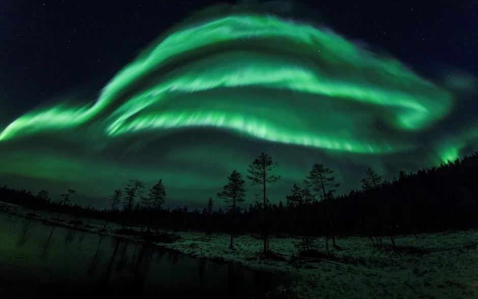14.10.2018   Bild des Tages   Nordlicht in Lappland, Finnland   Dre...