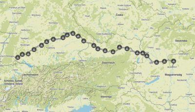 Donauradweg: Donaueschingen - Budapest
